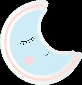 Luna durmiendo como un bebé